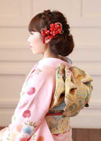【和装 髪飾り】桜の髪飾り クリップ かんざし 2点セット【画像2】