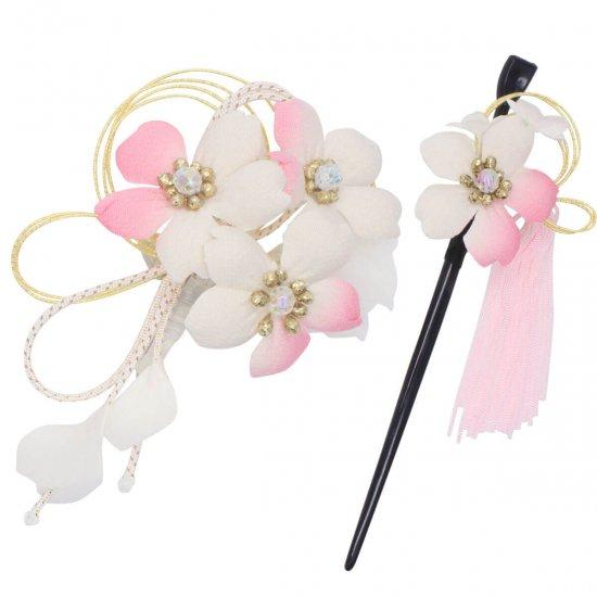 【和装 髪飾り】桜の髪飾り クリップ かんざし 2点セット【画像14】