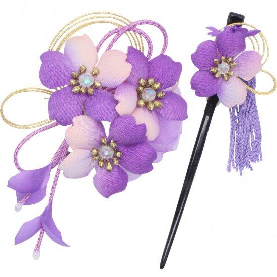 【和装 髪飾り】桜の髪飾り クリップ かんざし 2点セット【画像15】