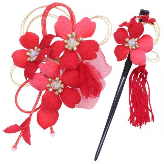 【和装 髪飾り】桜の髪飾り クリップ かんざし 2点セット【画像16】