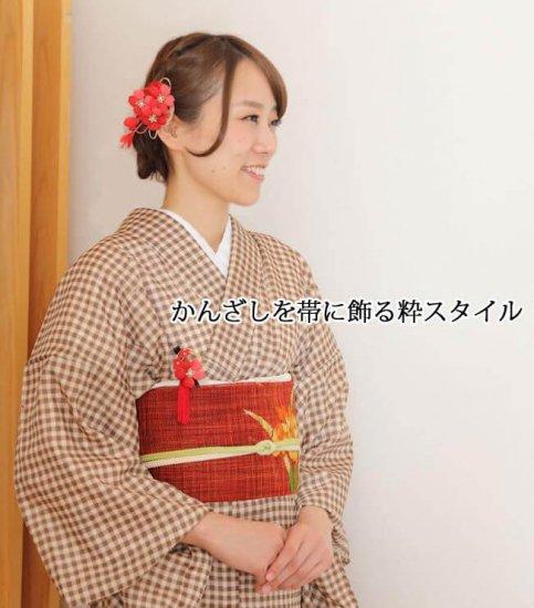 【和装 髪飾り】桜の髪飾り クリップ かんざし 2点セット【画像5】