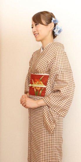 【和装 髪飾り セット】カーネーションの花 髪飾り かんざし クリップ Uピン 5点セット【画像4】