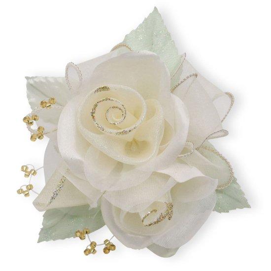 【一番人気】上品巻バラのコサージュ クリップ 付き【画像30】
