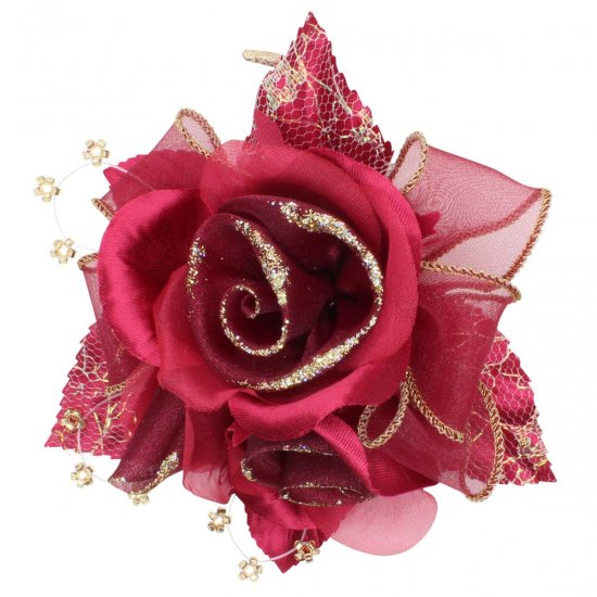 【一番人気】上品巻バラのコサージュ クリップ 付き【画像36】