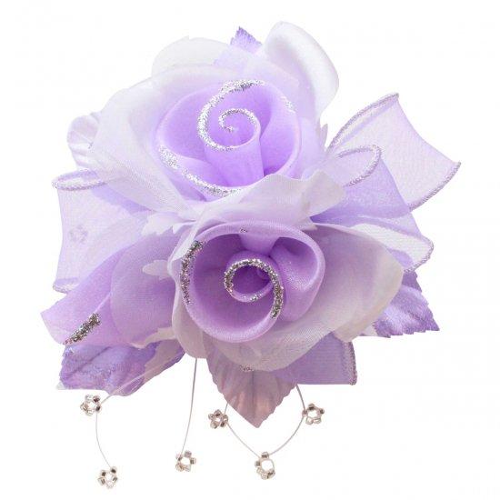 【一番人気】上品巻バラのコサージュ クリップ 付き【画像38】