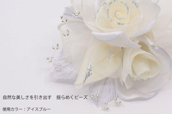 【一番人気】上品巻バラのコサージュ クリップ 付き【画像5】