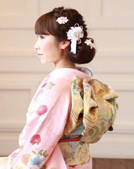 和装 髪飾り セット   蘭 花びら揺れる 和装髪飾り ヘアクリップ 1点 Uピン 5本 セット【画像2】
