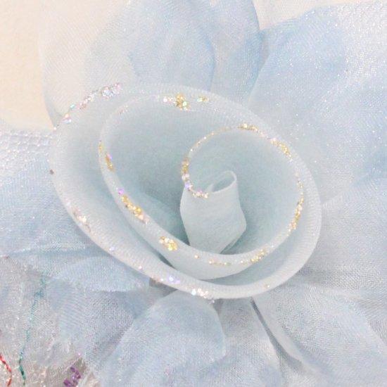ブルー 青 水色 巻きバラ コサージュ ケース付き【画像8】