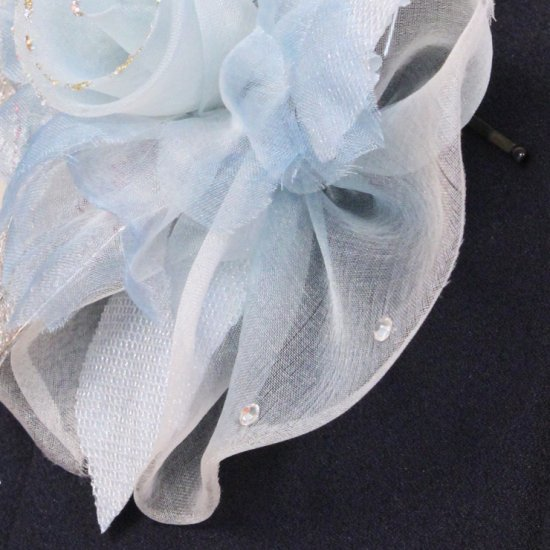 ブルー 青 水色 巻きバラ コサージュ ケース付き【画像10】