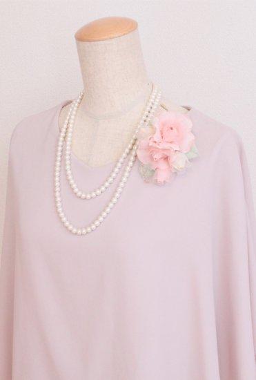 ピンク 小さい バラ コサージュ ケース付き【画像3】