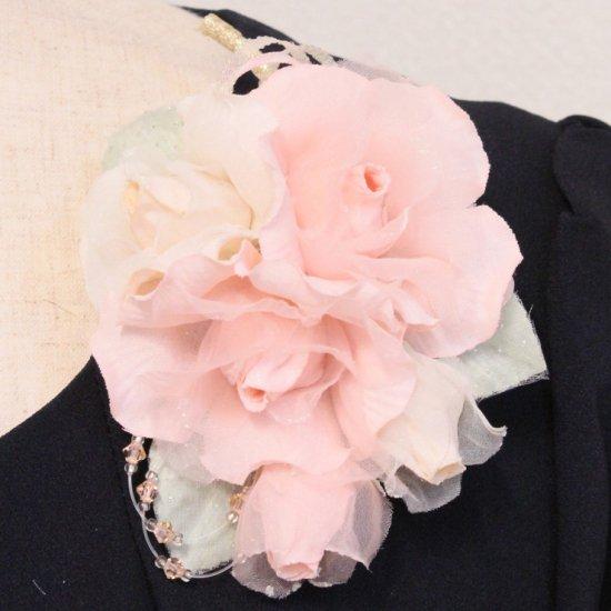 ピンク 小さい バラ コサージュ ケース付き【画像5】