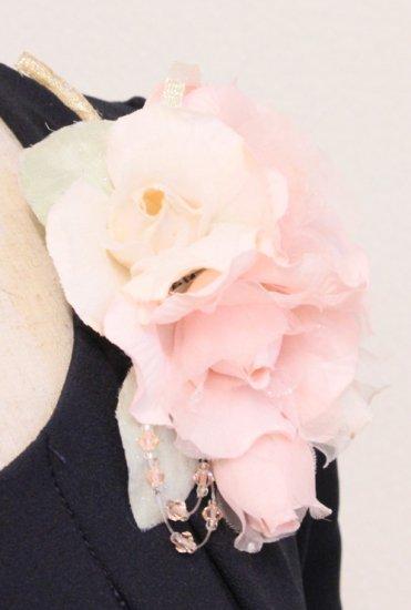 ピンク 小さい バラ コサージュ ケース付き【画像7】