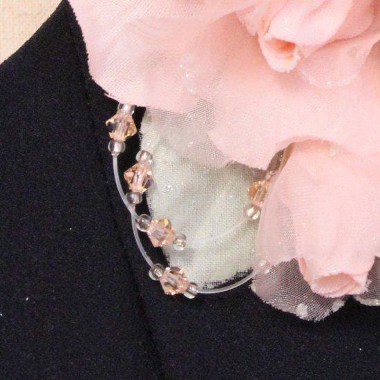ピンク 小さい バラ コサージュ ケース付き【画像10】