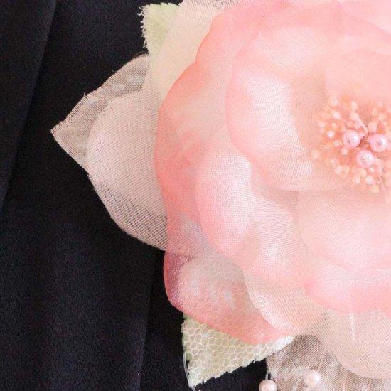 ピンク 大きい 一輪 パール コサージュ ケース付き【画像11】