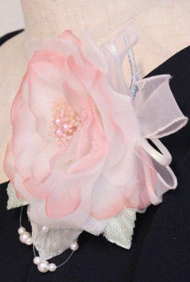 ピンク 大きい 一輪 パール コサージュ ケース付き【画像6】