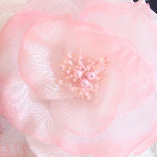 ピンク 大きい 一輪 パール コサージュ ケース付き【画像8】