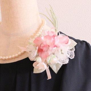 和装 髪飾り   価格で選ぶ  ピンク グリーン 緑 ホワイト 白 コサージュ ケース付き