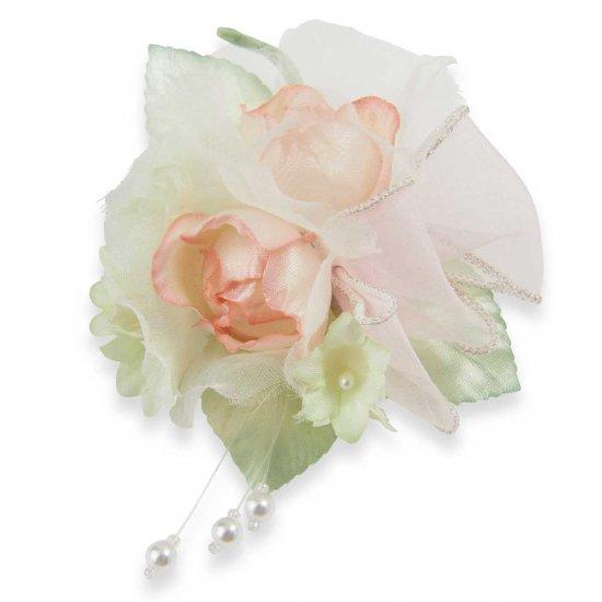 小さな バラ の フォーマルコサージュ ケース付き【画像11】