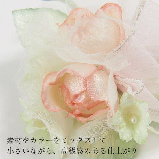 キッズ 小さな バラ の フォーマルコサージュ ケース付き【画像8】