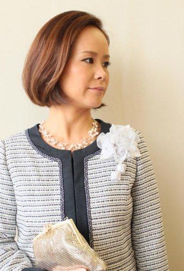 コサージュ フォーマル   日本製 大きい つぼみさがり ケース 箱 付き【画像2】