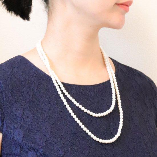 ロングパール パール ネックレス 2色セット 120センチ 6ミリ珠 保管ケースつき【画像3】