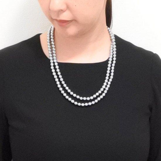 ロングパール パール ネックレス 2色セット 120センチ 8ミリ珠 保管ケースつき【画像7】