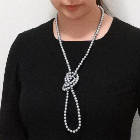 ロングパール パール ネックレス 2色セット 120センチ 8ミリ珠 保管ケースつき【画像9】