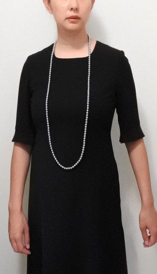 ロングパール パール ネックレス 2色セット 120センチ 8ミリ珠 保管ケースつき【画像10】