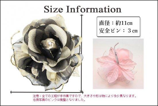 バラの2輪つきフォーマルコサージュ 2色セット 【画像11】