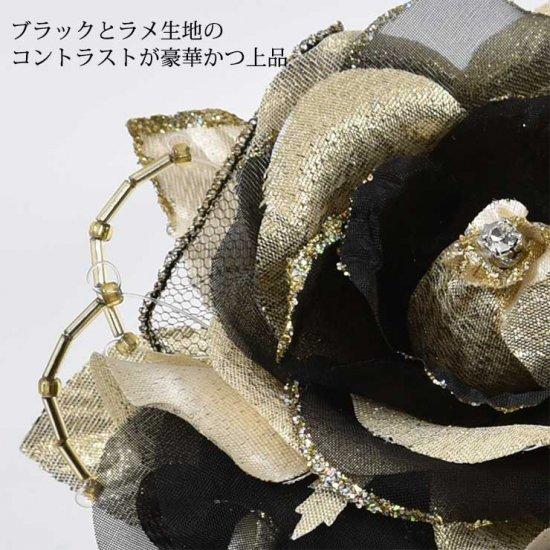 バラの2輪つきフォーマルコサージュ 2色セット 【画像6】