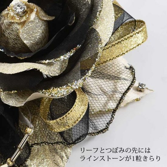 バラの2輪つきフォーマルコサージュ 2色セット 【画像7】