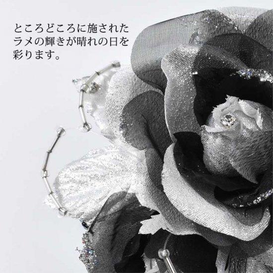 バラの2輪つきフォーマルコサージュ 2色セット 【画像8】