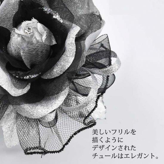 バラの2輪つきフォーマルコサージュ 2色セット 【画像9】