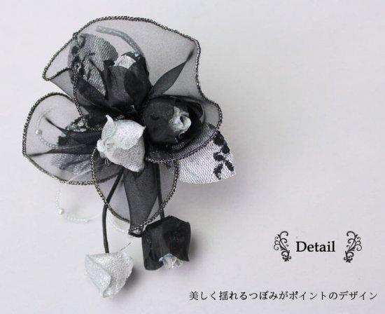 コサージュ フォーマル アウトレット バラ つぼみさがり 2色セット【画像8】