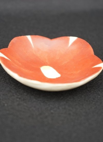[蔵珍窯]赤絵花咲 小皿