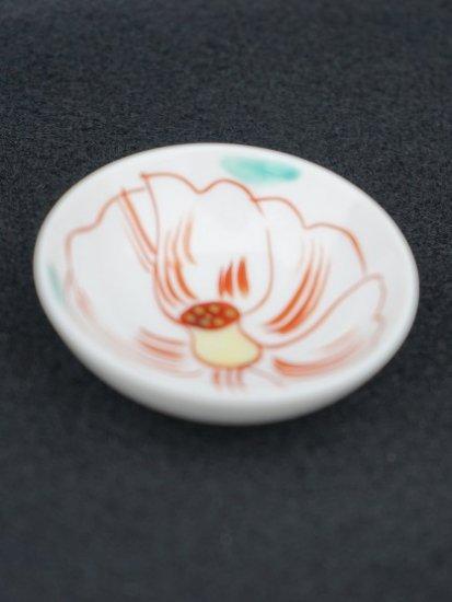 [蔵珍窯]色絵椿 豆皿