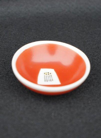 [蔵珍窯]赤絵椿 豆皿