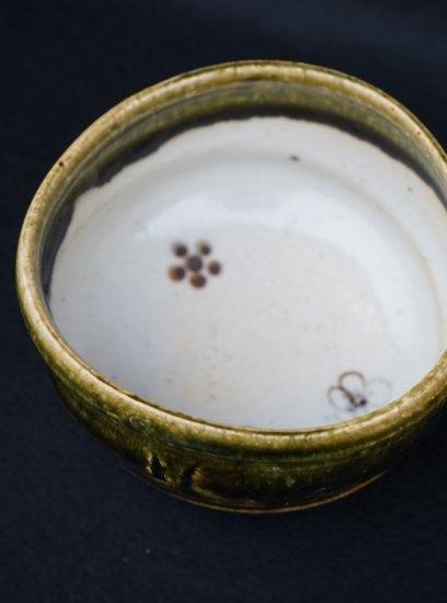 [蔵珍窯]織部 こふく碗