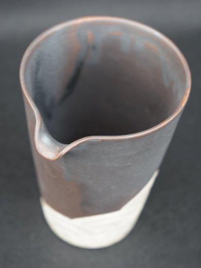 [蔵珍窯]銀彩銹釉波紋 片口酒器