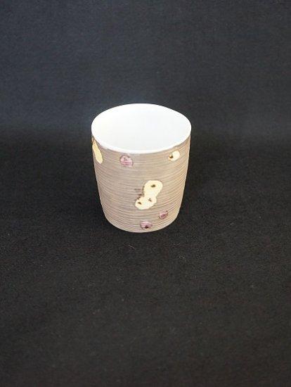 [宝山窯]六瓢プラチナ彩カップ 中
