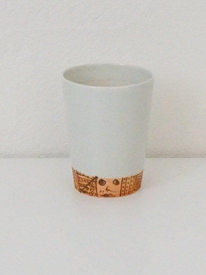 [宝山窯]プリミティブ絵カップ 中