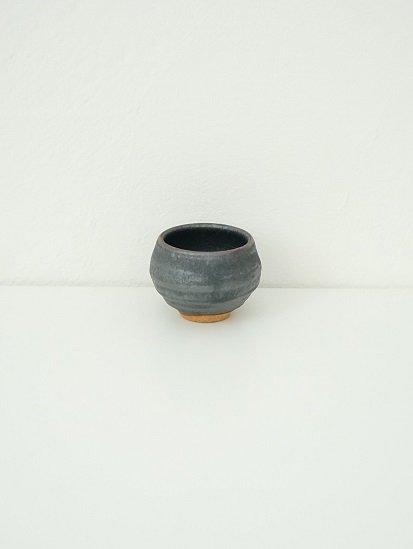 [別所窯]黒釉ぐい呑