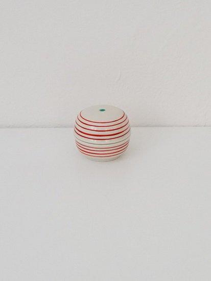 [喜山窯]コマ筋蓋つき豆鉢