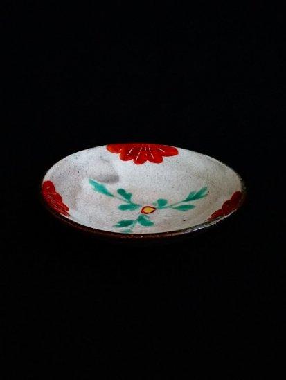 [蔵珍窯]粉引色絵 小皿