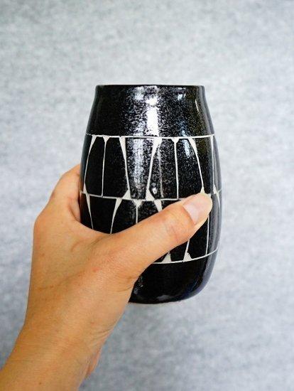 [かもしか道具店]ビールの杯 黒