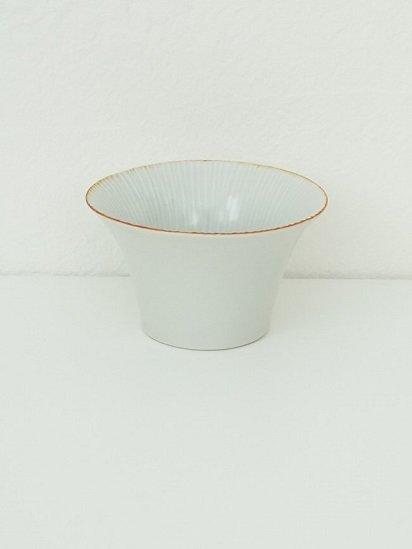 [竹内玄太郎]白磁ソギ鉢