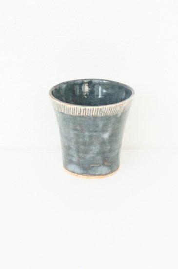 [玉山窯]鼠志野十草フリーカップ