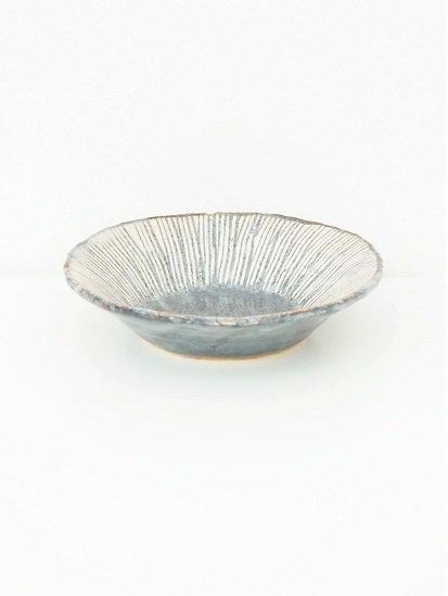 [玉山窯]鼠志野十草6寸鉢