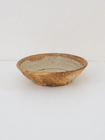 [田鶴濱守人]枯粉引6寸ジャノメ鉢