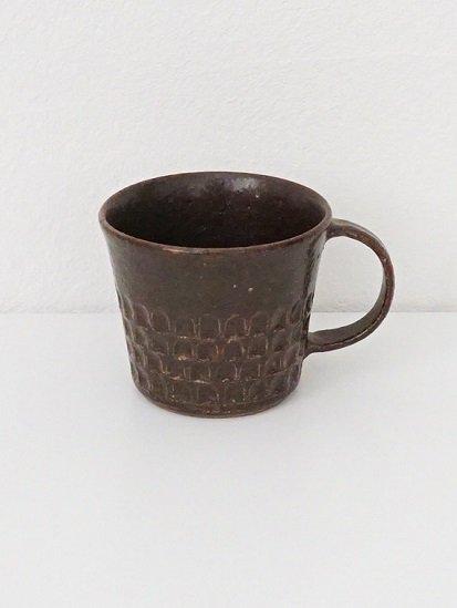 [ 伊藤豊 ]ブロックマグカップ(ストレート)茶